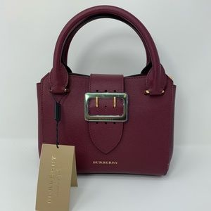 Burberry Grain Leather Small Buckle Tote
